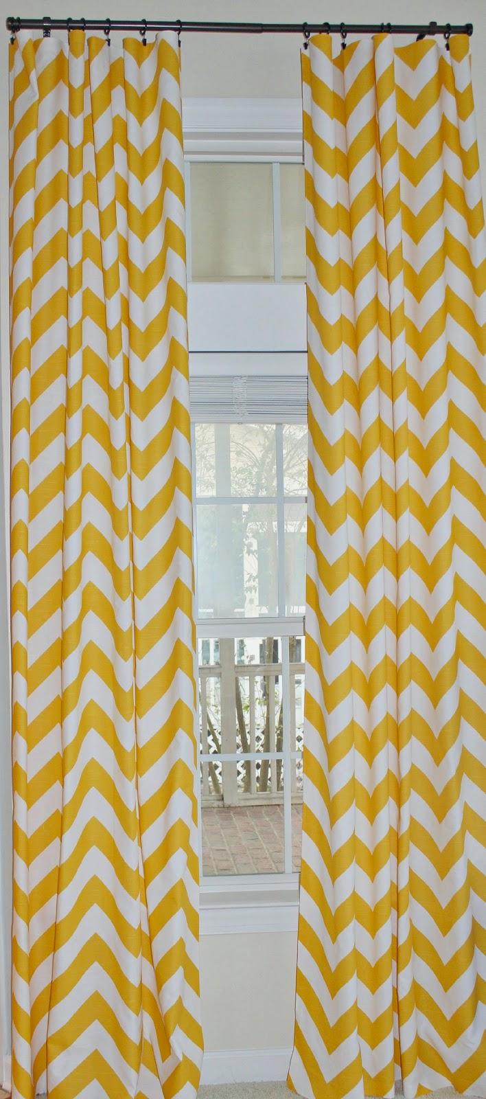 Chevron yellow curtains