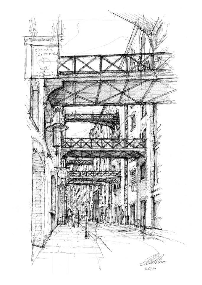14-Shad-Thames-Luke-Adam-Hawker-Creating-Architectural-Drawings-on-Location-www-designstack-co