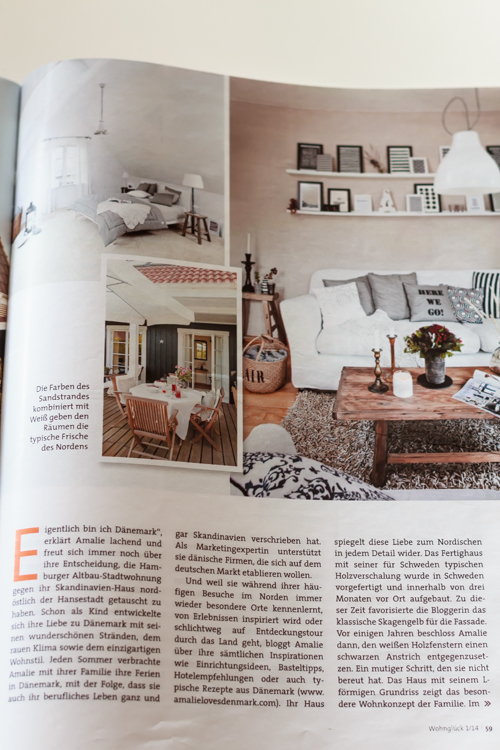 Wohn Zeitschriften unser zuhause in der wohnglück amalie denmark