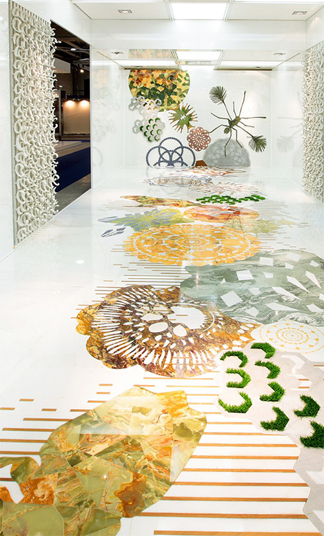 Marble Inlay Flooring Designs : Italian budri marble inlay flooring walls designs for home