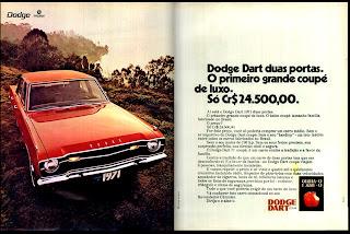 propaganda Dodge Dart Coupê de Luxo - 1970. 1970. propaganda carros anos 70.história década de 70; Brazilian advertising cars in the 70s, propaganda anos 70; reclame década de 70. Oswaldo Hernandez;