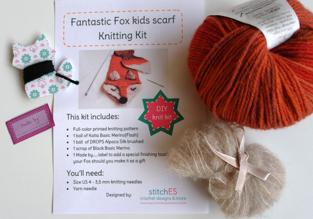 stitchES crochet : Fantastic Fox knitting pattern & kit - finally available