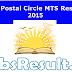 UP Postal Circle MTS Results 2015 Multi-Tasking Staff Cut Off