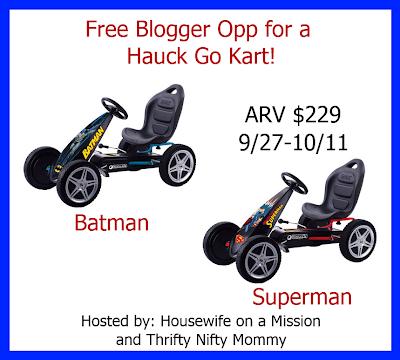 Hauck Go Kart Blogger Opp, Giveaway starts 9/27