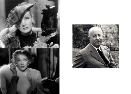Marlene Dietrich and Christian Dior