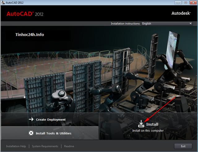 AutoCAD 2012 Setup step 1