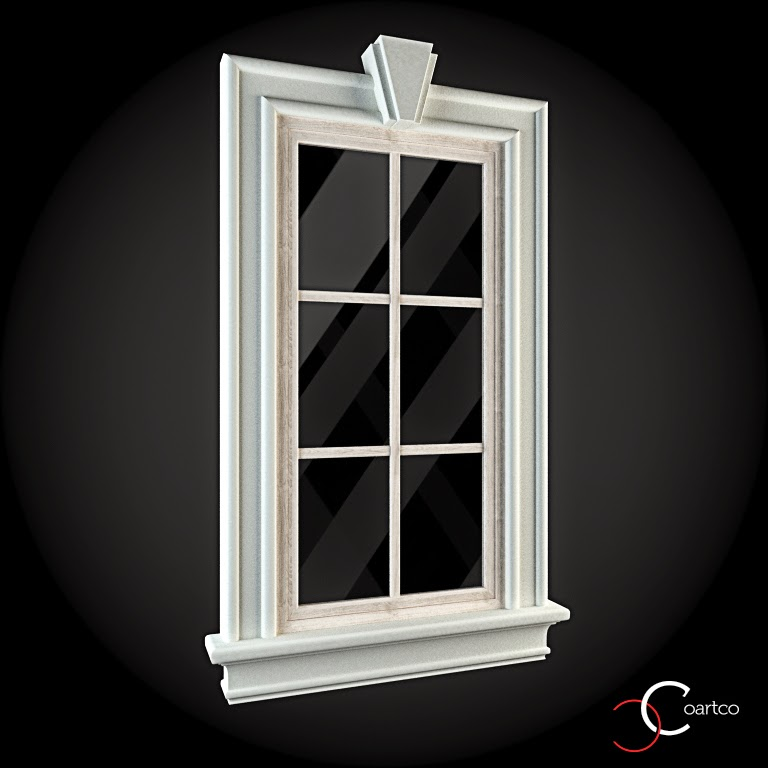 Ornamente Geamuri Exterior, fatade case cu profile decorative polistiren, profile fatada,  Model Cod: WIN-004