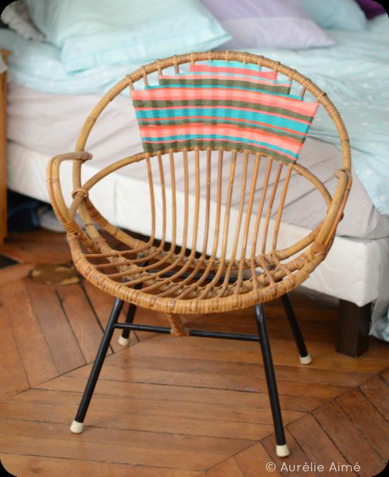 Aur lie aim un fauteuil rotin aux allures navajo - Customiser des chaises ...
