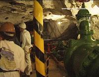 inside Crown Gold Mine in Gold Reef City Johannesburg