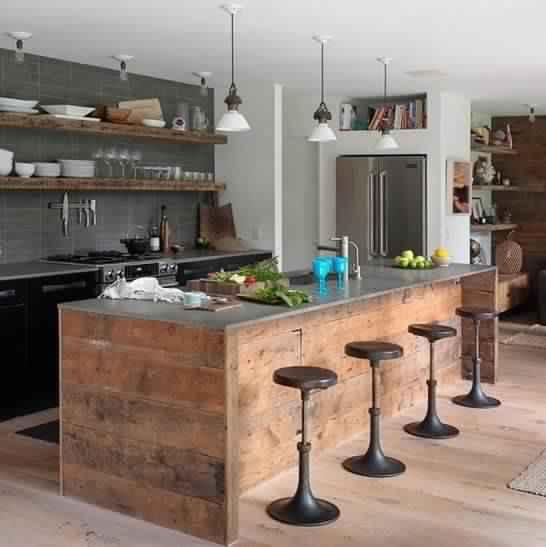 Meuble de cuisine en bois de palette  Meubles de cuisine