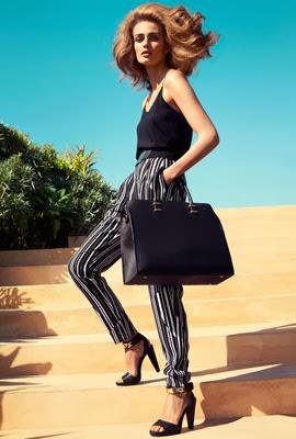 moda primavera 2014 H&M mujer pantalón estampado
