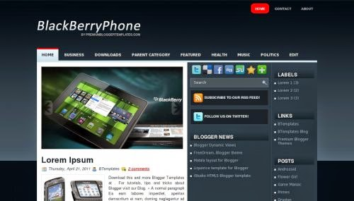 BlackBerryPhone - Free Blogger Template