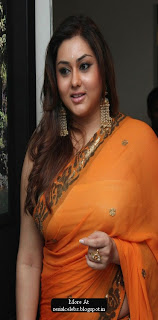 Namitha in transparent saree