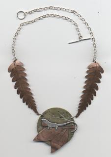 Metal Lizard Necklace