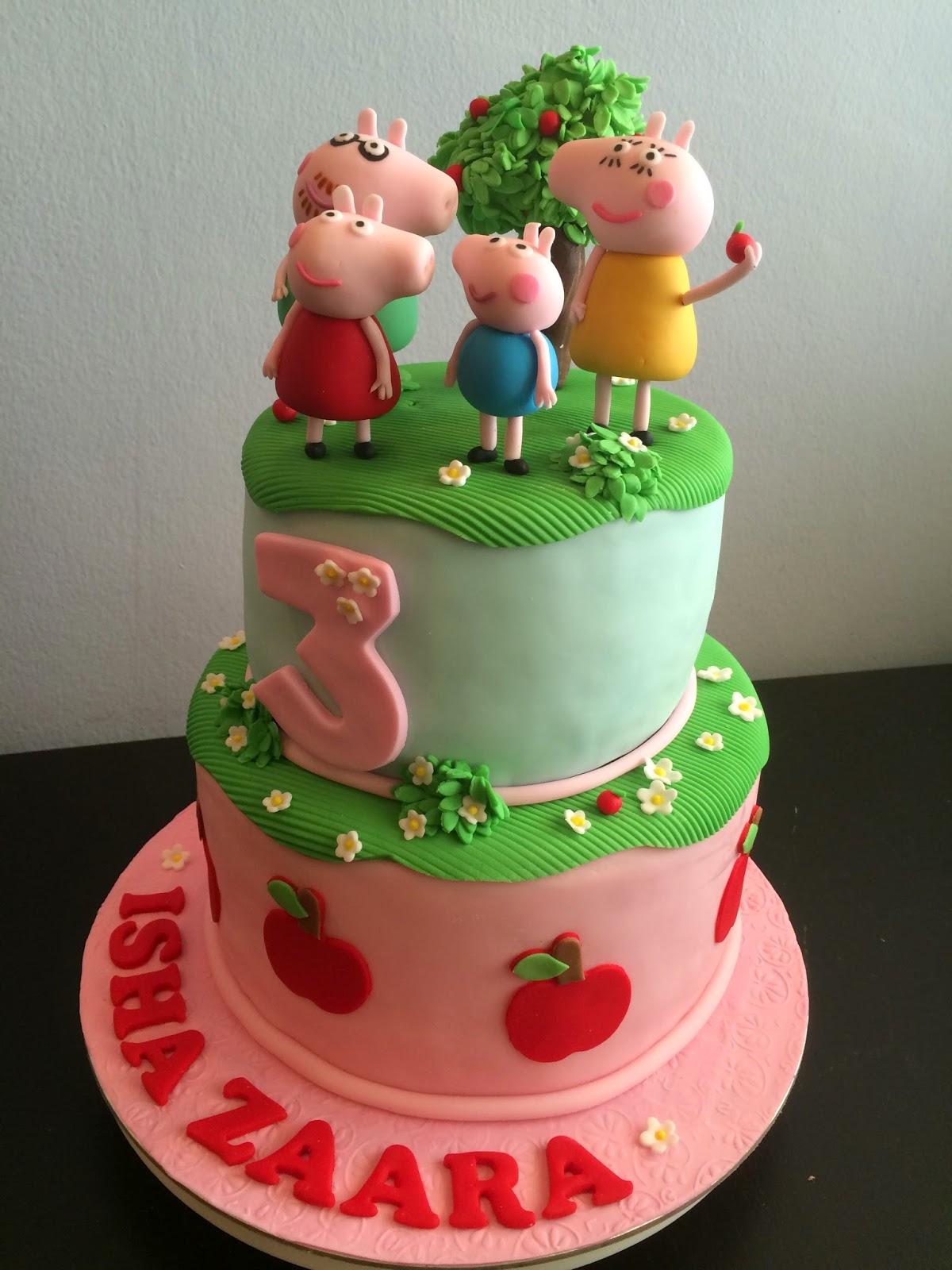 Peppa Pig Apple Tree Cake Peppa Pig Cookies Crissas Cake Corner