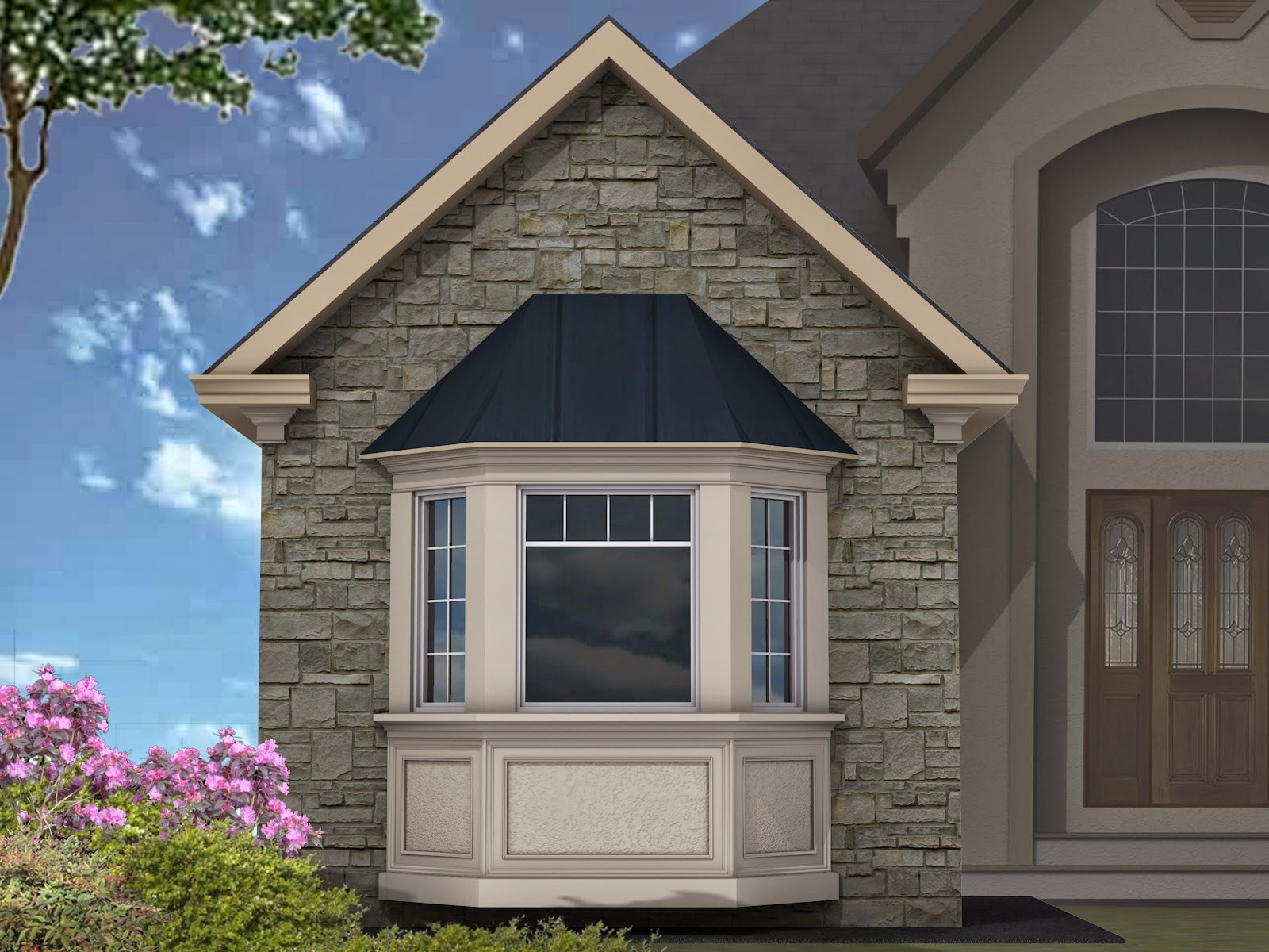 3d model of window exterior design home designs for Exterior 3d model
