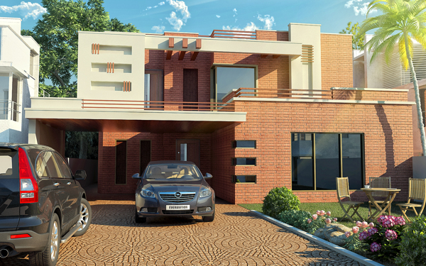 D Front Elevation Of House In Punjab : Punjab housing society lahore pechs d front design