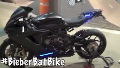 Justin Bieber's Bat Bike Birthday Present from Dad Jeremy 2013 Video