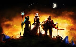 Trine Warriors Night Moon HD Wallpaer