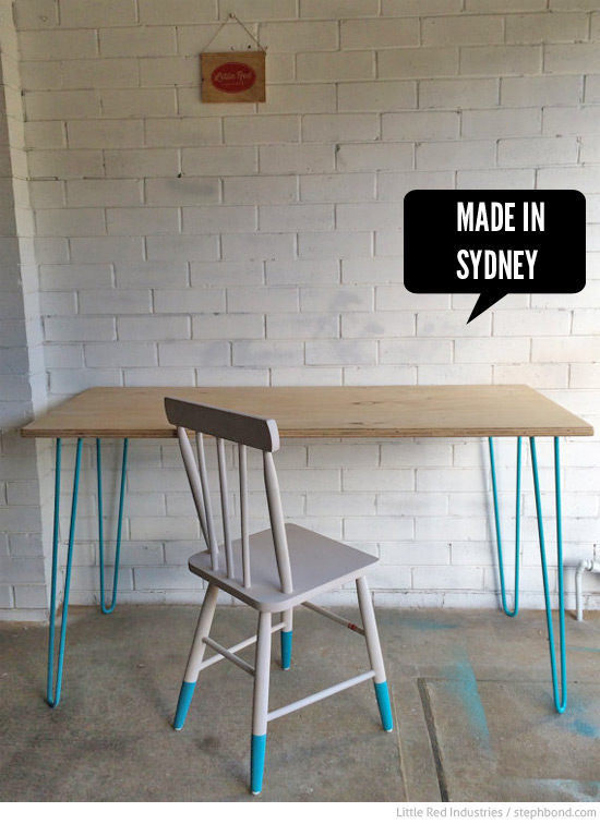 Bondville Handmade furniture for kids from Little Red Industries – Vintage Kids Table and Chairs