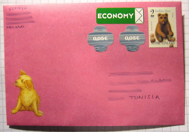 I got my first penpals and sent my first letter to Tunisia.