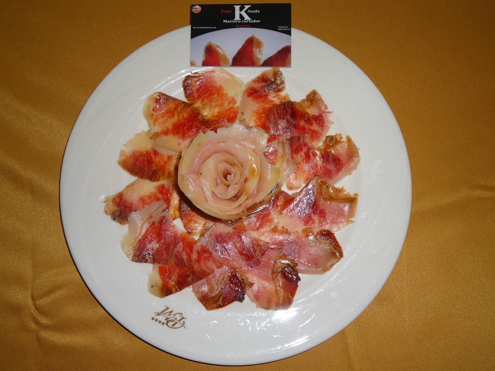 Cortador de jam n malaga y marbella finger food con - Platos con jamon iberico ...