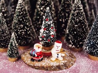 Božićne slike Djed Mraz i snješko pozadine za mobitele download