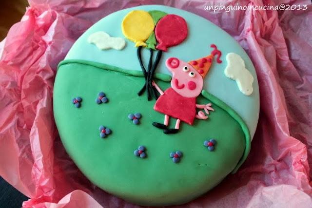 torta di peppa pig per i 4 anni della principessa