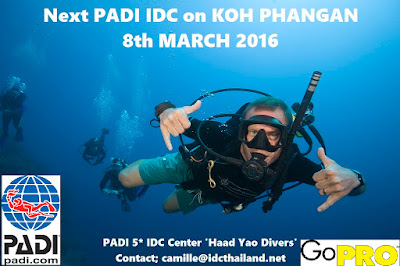 PADI IDC on Koh Phangan starts 8th March 2016