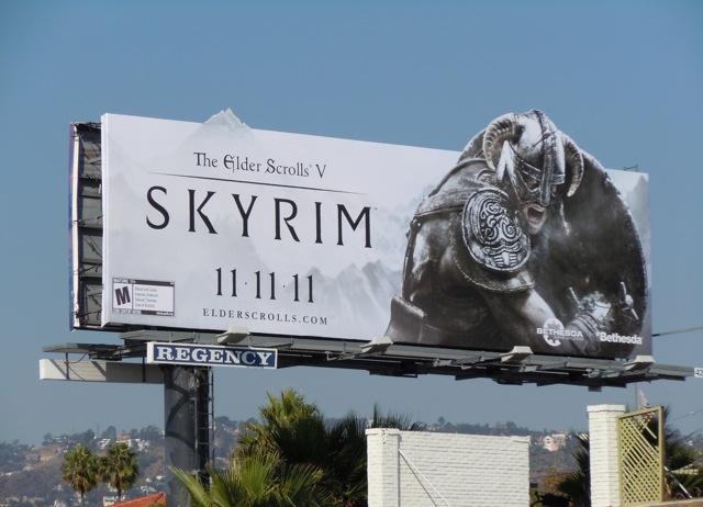 Skyrim game billboard