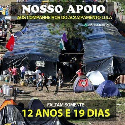 """TODO APOIO AOS """"CUMPANHÊRUS"""" DO ACAMPAMENTO LULA EM CURITIBA"""