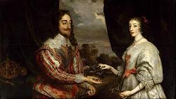 Carlos I Estuardo y Enriqueta María de Borbón