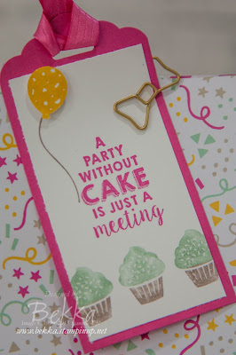 It's My Party Suite Party Bag made with products available from 5 January 2016 at www.bekka.stampinup.net