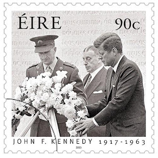 Ireland: John F. Kennedy 1917- 1963 - 90c Stamp - www.irishstamps.ie