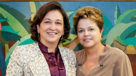 A esquerda sobe ao altar com a direita : Tia Dilma vai ser madrinha de casamento de Kátia Abreu