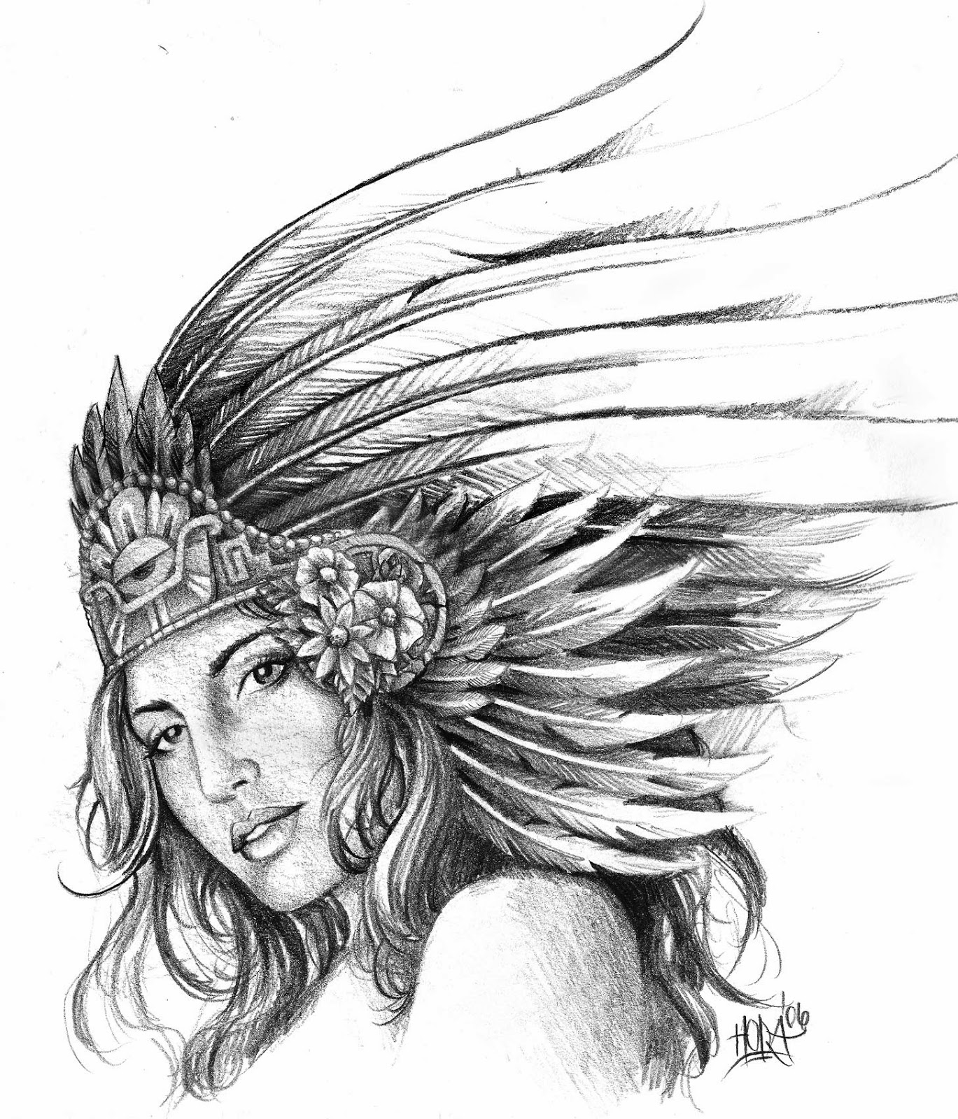 Aztec Warrior Girl Tattoo Designs Can