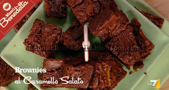 Brownies al Caramello Salato di Benedetta Parodi