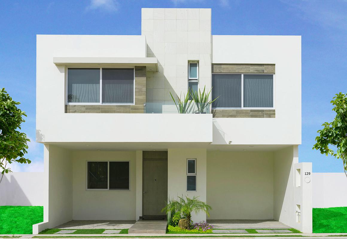 Fachadas minimalistas fachada modelo verona en puerta for Modelos de casas minimalistas de dos plantas
