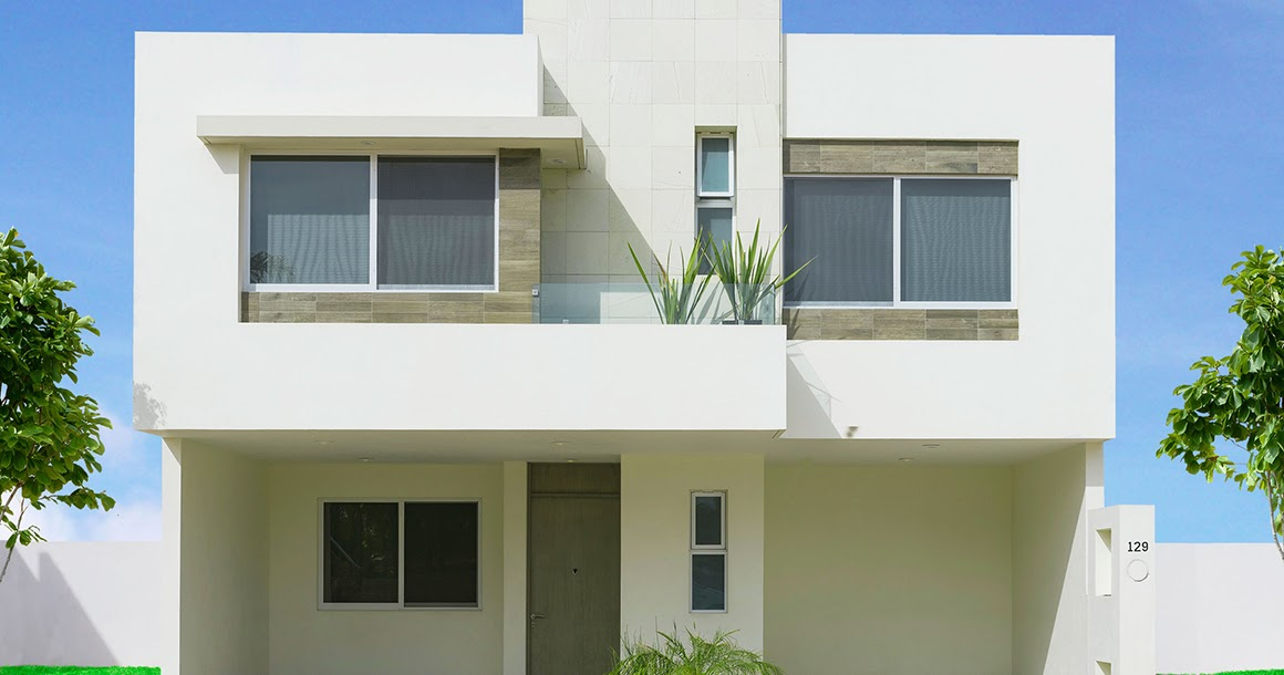 Fachadas minimalistas fachada modelo verona en puerta for Modelos de casas minimalistas