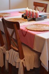 zimowa oprawa stołu
