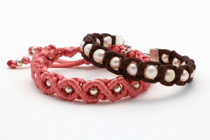 bransoletki makrama - sznurek satynowy