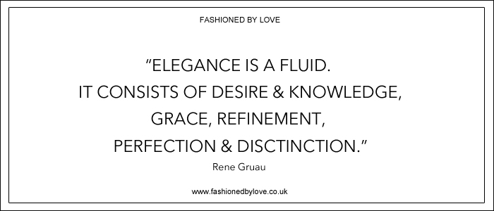 via fashioned by love | best fashion & style quotes | Rene Gruau