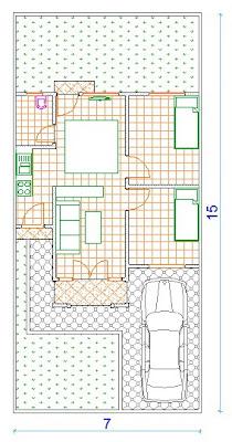 rumah minimalis denah rumah type 48/105
