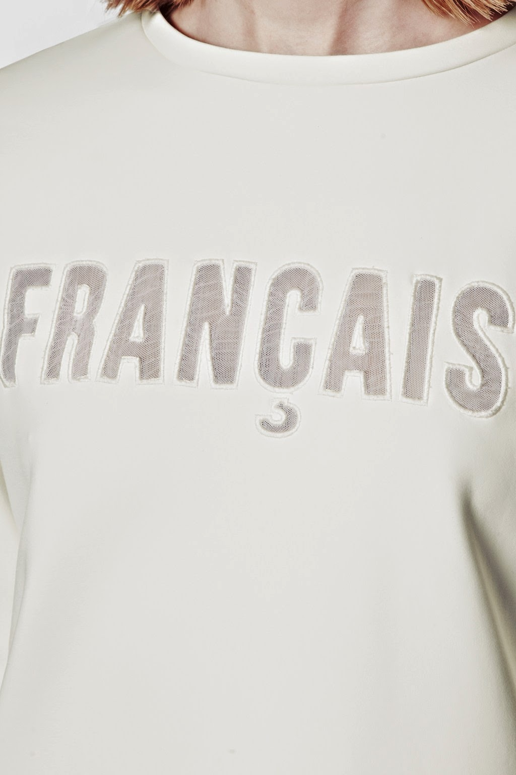 francais jumper, french connection white sweater,