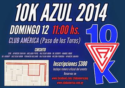 10k Azul del club América de Paso de los toros (Tacuarembó, 12/oct/2014)