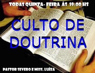 CULTO DE DOUTRINA
