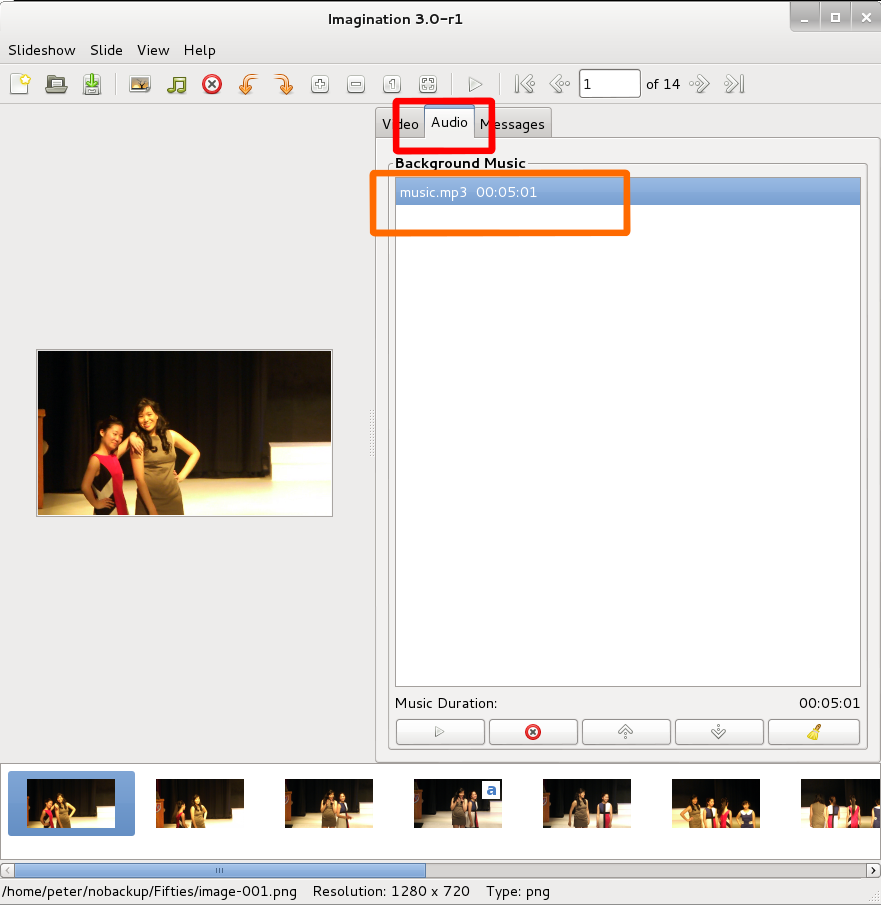 how to create picture show up on click