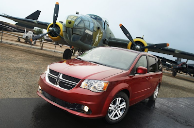 2011 Dodge Grand Caravan red airplane