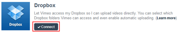 Vimeo Dropbox Upload 01