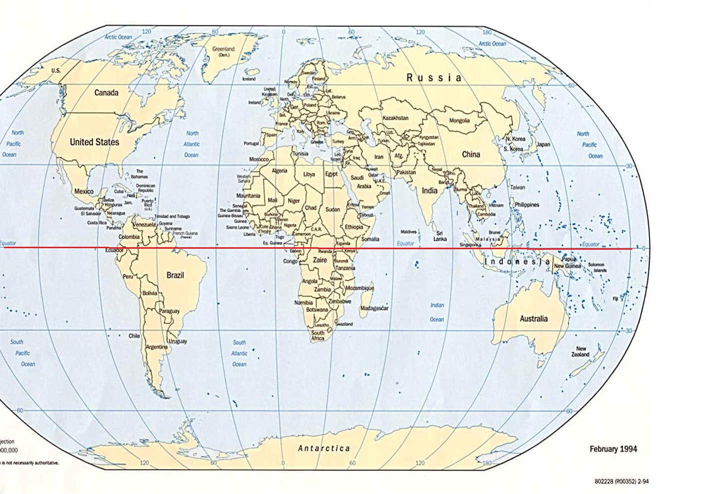 Equator Line Map